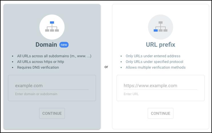 domain or url prefix