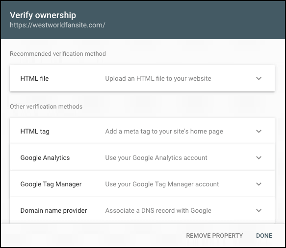 verify ownership console
