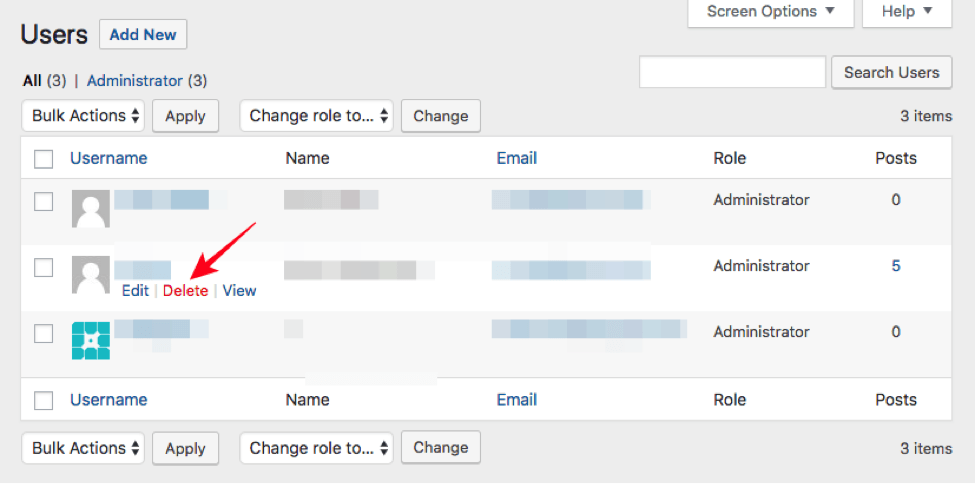WordPress Username