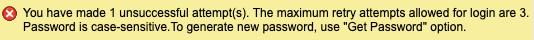 unsuccessful login attempts notification