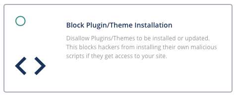 malcare block plugin/theme installation