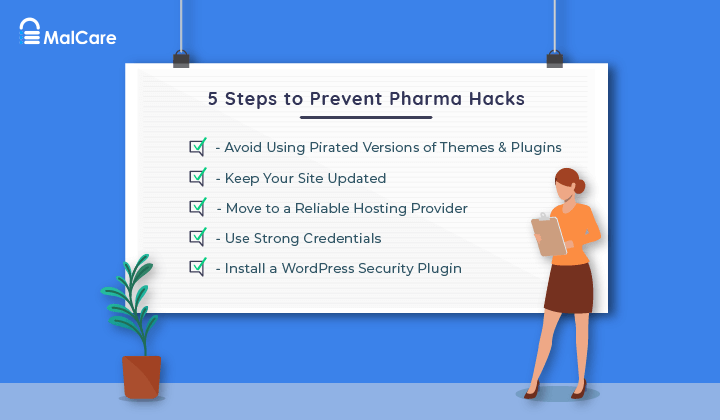 wordpress pharma hack prevention