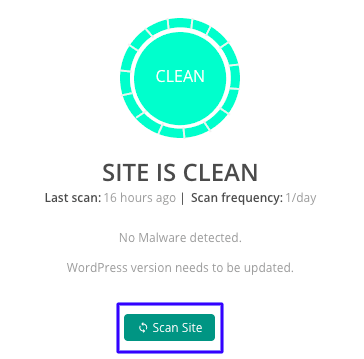 Rescan your site