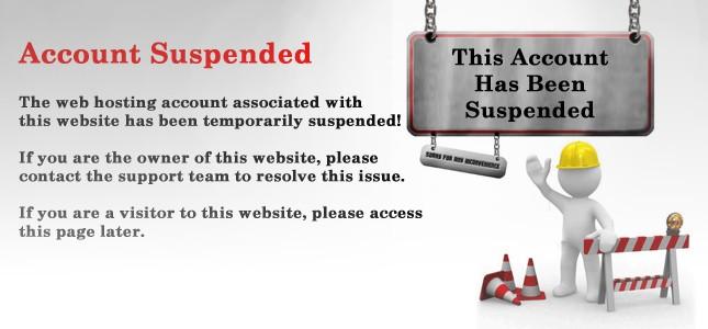 Website host suspended the Wordpress account