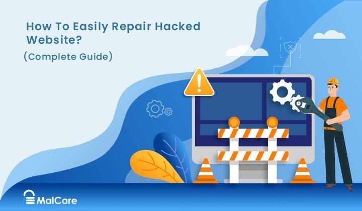 hacked website repair