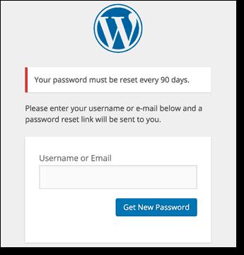 wordpress forget password