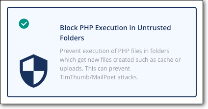 block php execution in untrusted folders