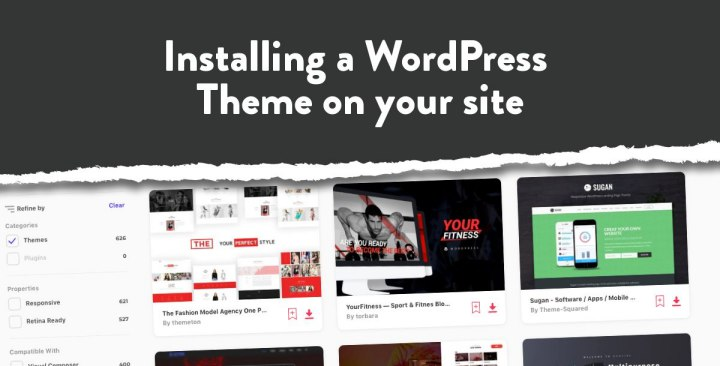 Installing a WordPress theme on your site