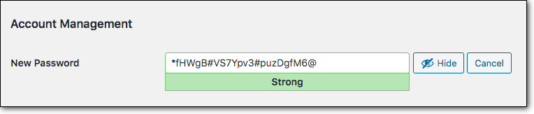 strong new password