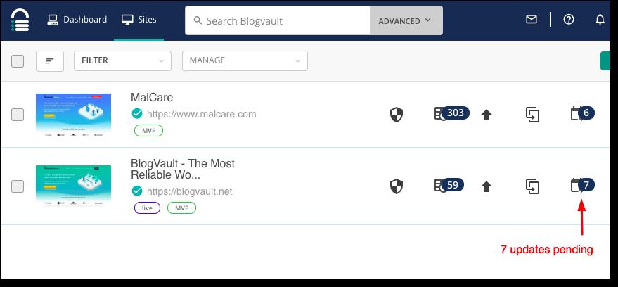 update plugins malcare
