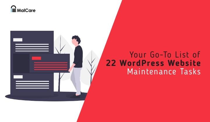 22 wordpress website maintainence tasks