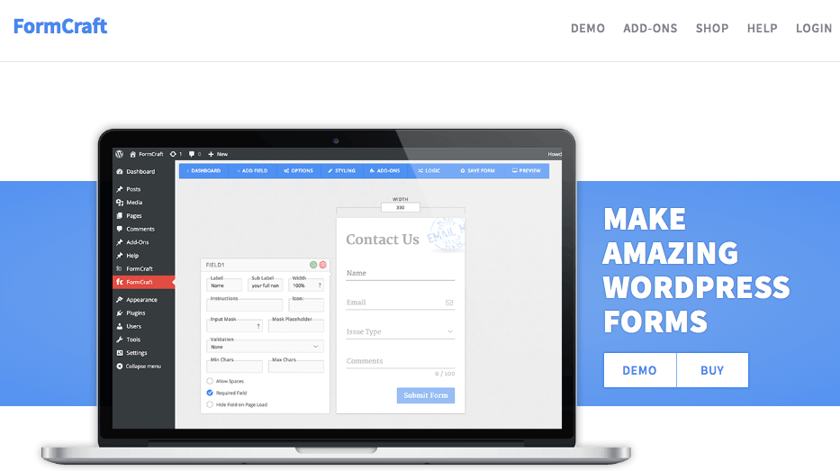 wordpress form plugins - FormCraft