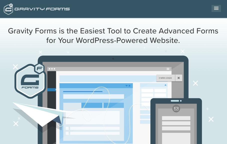 wordpress form plugins - Gravity Forms