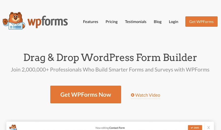 wordpress form plugins - WPForms