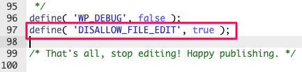 inserting code in wp-config file