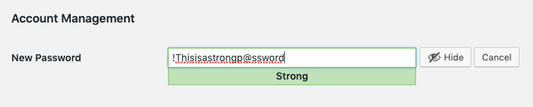 creating a strong password