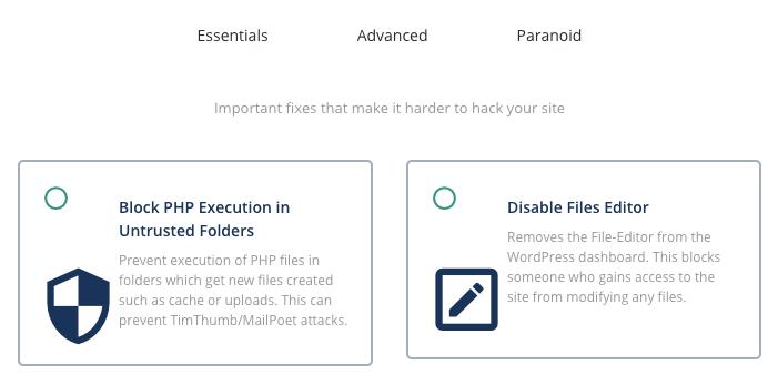Blocking Php execution