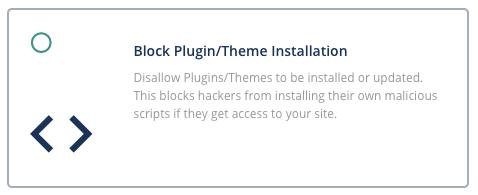 blocking plugin or theme installation