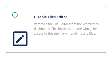 secure a wordpress website by disabling file editor