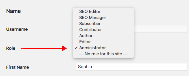 setting up administrator role