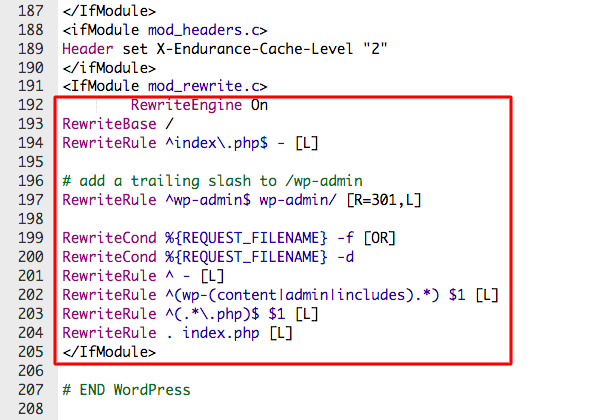 multisite configuration in htaccess file