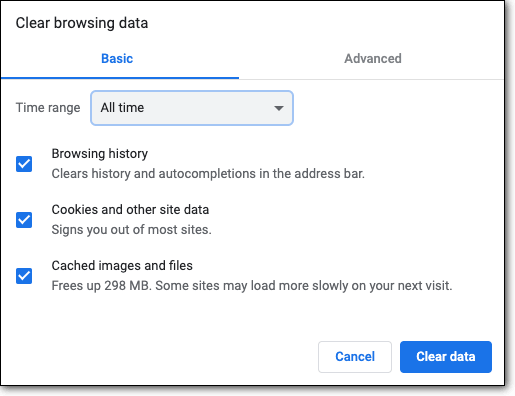 clear google browser data
