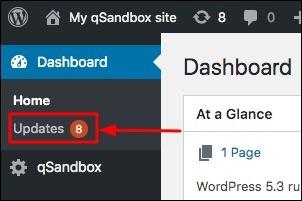 update option in wordpress dashboard