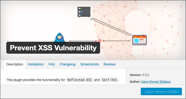 prevent wordpress xss vulnerability plugin