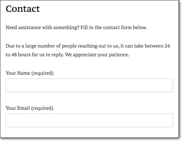 contact form vulnerable for sql injection attack