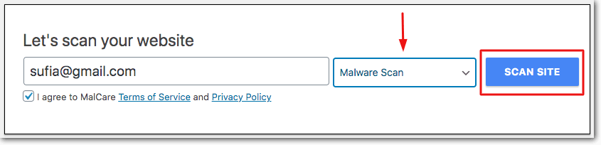 free malcare scan when godaddy site is hacked