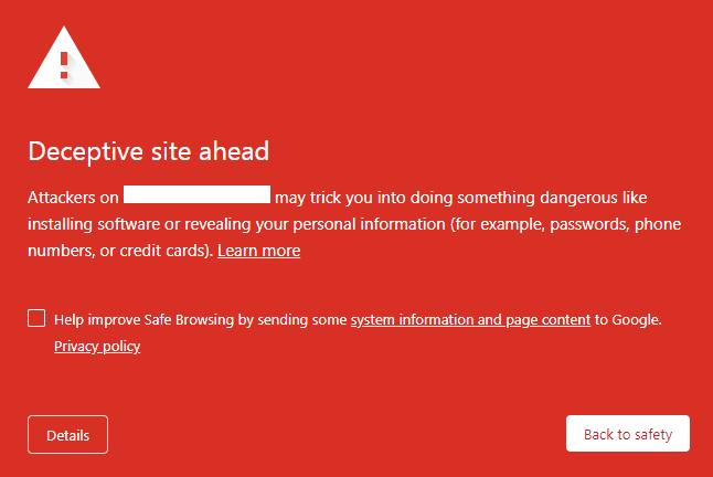 google wordpress blacklist