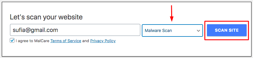 malcare free scan for hacked website repair