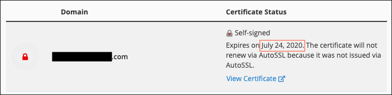 web host ssl certificate status!