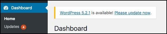 wordpress core update