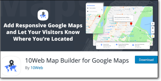 10Web Map Builder for Google Maps
