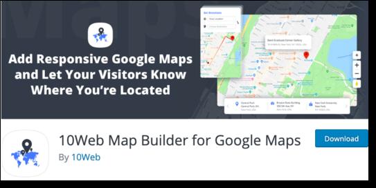 10Web Map Builder for Google Maps