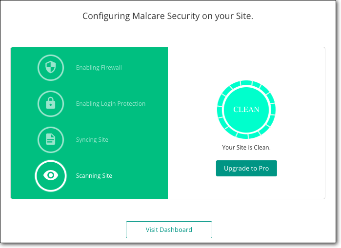 Configuring MalCare Security on your Site