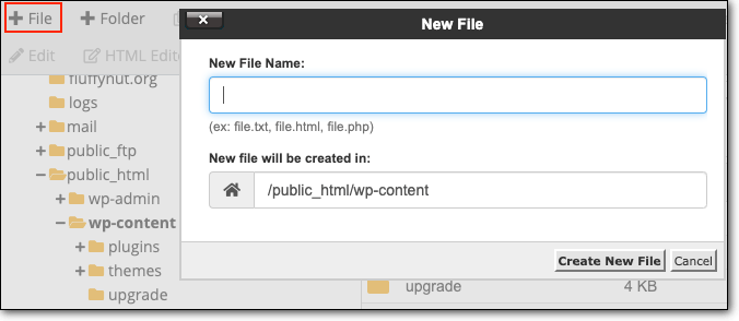 creating new file