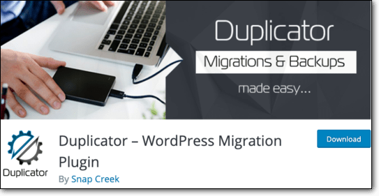 duplicator as vulnerable WordPress plugin