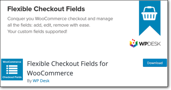 Flexible Checkout Fields WordPress Plugin
