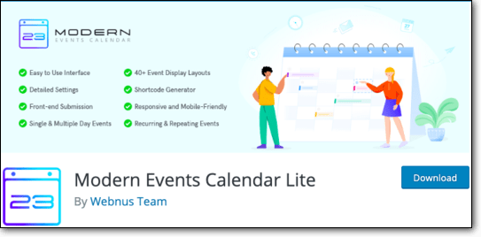 Modern Events Calendar Lite