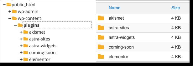 plugins in wp-content folder