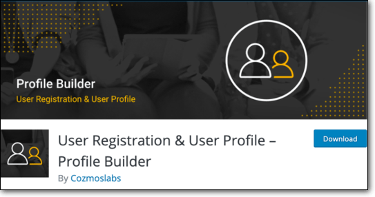 User Registration Profile Builder WordPress Plugin