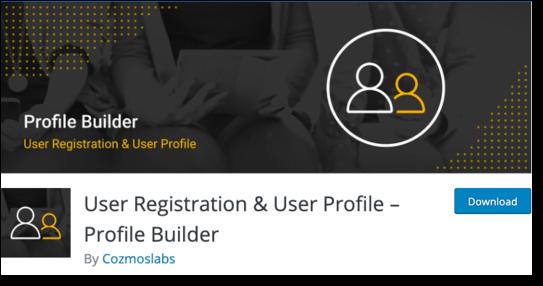 User Registration Profile Builder WordPress Plugin
