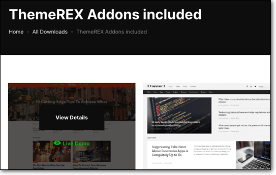 ThemeRex Addons included