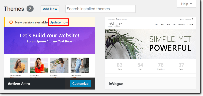 Update your theme to prevent Nulled WordPress Themes and Plugins