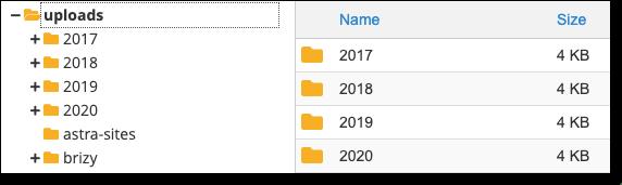 wp content uploads folder