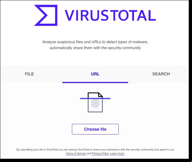 virustotal scanned details