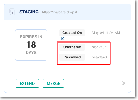 blogvault staging username password