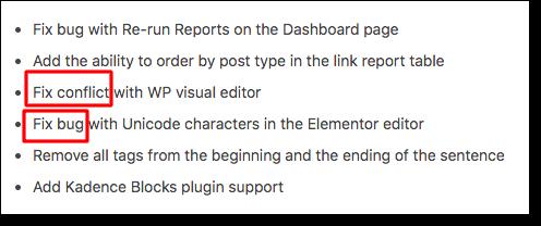 wordpress update details